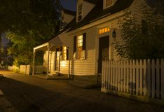 Williamsburg home after dark Stock Photography