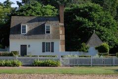 Williamsburg koloniinvånarehus Royaltyfri Fotografi
