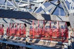Williamsburg most jest zawieszenia mostem przez Wschodnią rzekę w Miasto Nowy Jork, usa obraz royalty free