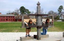 Williamsburg, VA: Bambini in stock Fotografie Stock