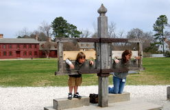 Williamsburg, VA: Kids in Stocks Stock Photos