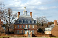 Williamsburg, VA: Palácio do regulador Foto de Stock