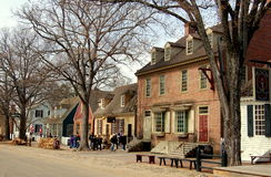Williamsburg, VA : Vue le long de duc de rue de Gloucester photo stock