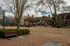 Williamsburg Virginia, Marzec, - 26, 2018: Historyczni domy i budynki w Williamsburg Virginia Fotografia Royalty Free