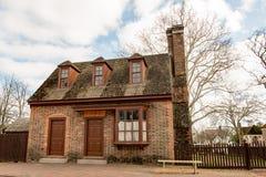 Williamsburg Virginia, Marzec, - 26, 2018: Historyczni domy i budynki w Williamsburg Virginia Obrazy Royalty Free