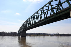 Williamstown Bridge in Marietta. Williamstown Bridge over the Ohio River between Williamstown, West Virginia and Marietta Royalty Free Stock Image