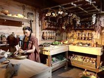 Living Quarters on the Ark in the Ark Encounter Theme Park. Williamstown, KY, USA - November 3, 2017:  Living Quarters on Noah`s ark replica at the Ark Encounter Stock Photo