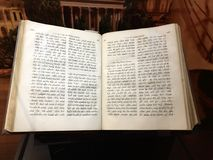 Syriac New Testament. Williamstown, KY, USA - November 3, 2017: Syriac New Testament from 1826 which mentions Paul`s journeys in Syria in Syriac displayed in stock photography