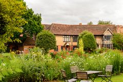 Willian Shakespeare Birthplace Stratford på Avon, England, enhet arkivbilder