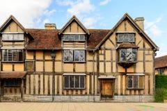 Willian Shakespeare Birthplace, Stratford sur Avon, Angleterre, unité image libre de droits
