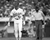 Willie McGee, Oakland Athletics stockbilder