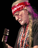 Willie Nelson bij het Rode Amfitheater van Rotsen #2 Royalty-vrije Stock Foto's