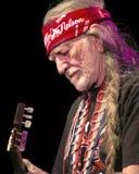 Willie Nelson a colore rosso oscilla il Amphitheater #2 Fotografie Stock Libere da Diritti