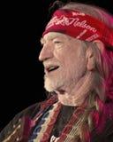 Willie Nelson a colore rosso oscilla il Amphitheater #2 Immagini Stock Libere da Diritti