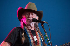 Willie Nelson. LINCOLN, CA – June 17: Willie Nelson performs at Thunder Valley Casino Resort in in Lincoln, California on June 17, 2015 Royalty Free Stock Image