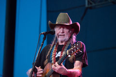Willie Nelson. LINCOLN, CA – June 17: Willie Nelson performs at Thunder Valley Casino Resort in in Lincoln, California on June 17, 2015 Royalty Free Stock Photo