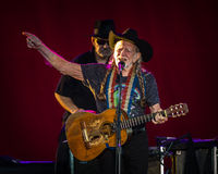 Willie Nelson. Plays the Les Schwab Amphitheater in Bend, Oregon for thousands of fans Stock Image