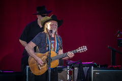 Willie Nelson. Plays the Les Schwab Amphitheater in Bend, Oregon for thousands of fans Stock Photos