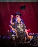 Willie Nelson. Plays the Les Schwab Amphitheater in Bend, Oregon for thousands of fans Royalty Free Stock Photo