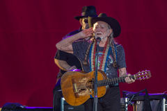 Willie Nelson. Plays the Les Schwab Amphitheater in Bend, Oregon for thousands of fans Royalty Free Stock Photos