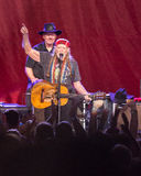Willie Nelson. Plays the Les Schwab Amphitheater in Bend, Oregon for thousands of fans Stock Photography