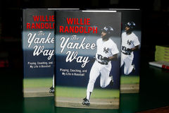 Willie Randolph. HUNTINGTON, NY-MAY 16: Former MLB player/manager Willie Randolph signs copies of his book The Yankee Way at Book Revue on May 16, 2014 in Royalty Free Stock Photo