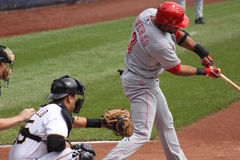 Willie Taveras of Cincinnati Reds. Swings at a pitch against the Pittsburgh Pirates on September 24, 2009 in Pittsburgh, PA Stock Photos