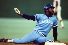 Willie Wilson. Kansas City Royals OF Willie Wilson. (Image taken from color slide Stock Photos