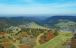 Willingen in the Sauerland region (Germany) Stock Photo