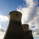 Willington Power Station Cooling Towers. The power station is now disused, willington power station was closed down a number of years ago, the only part still Royalty Free Stock Image
