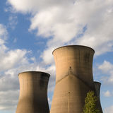 Willington Power Station Cooling Towers. The power station is now disused, willington power station was closed down a number of years ago, the only part still Stock Photo