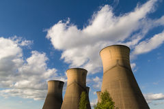 Willington Power Station Cooling Towers. The power station is now disused, willington power station was closed down a number of years ago, the only part still Stock Image