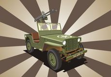 willis de guerre de machine de jeep Photos libres de droits