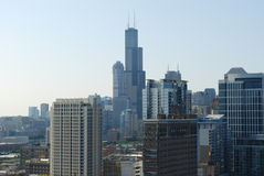 Willis tower in chicago. Southside Royalty Free Stock Photos