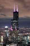 Willis Tower in Chicago. CHICAGO, IL - Oct 6: Willis tower close up on October 6, 2011 in Chicago, Illinois. Willis Tower know as the famous landmark is 1451 royalty free stock image