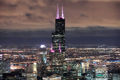 Willis Tower in Chicago. CHICAGO, IL - Oct 6: Willis tower close up on October 6, 2011 in Chicago, Illinois. Willis Tower know as the famous landmark is 1451 stock photo