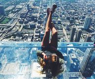 Willis tower. Chicago skydeck view Royalty Free Stock Photo