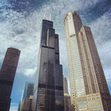 Willis tower in Chicago. View of the Willis Tower in downtown Chicago Royalty Free Stock Image
