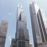 Willis Tower From der Fluss Stockfotografie