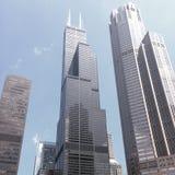Willis Tower From il fiume fotografia stock