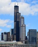 Willis Tower. This picture is of the Willis Tower formally known as Sears Tower in Chicago, Illinois.  This picture was taken from the near south side on Stock Photo