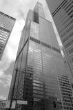 The Willis Tower Sears Tower. A black and white classy view of The Willis Tower, former known as Sears Tower Royalty Free Stock Images