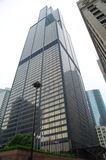 Willis Tower (Sears tower) close up in downtown Chicago. The 2nd tallest building in USA. Stock Photos