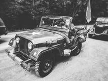 Willis velhos do jipe do exército dos EUA fotos de stock
