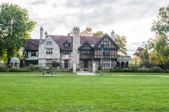 Willistead Manor Windsor ontario. Willistead Manor is a historic 36-room mansion nestled within a 15-acre park located in the former town of Walkerville, Ontario Stock Photo