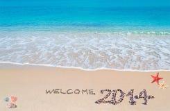 Willkommen 2014 Stockbilder