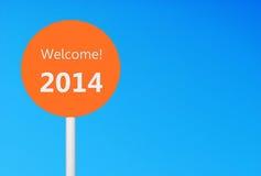 Willkommen 2014 Stockbild