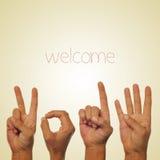 Willkommen 2014 Stockfotos