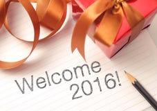 Willkommen 2016 Lizenzfreie Stockfotografie