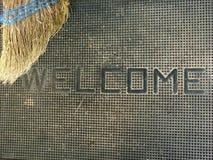 Willkommen Stockbild